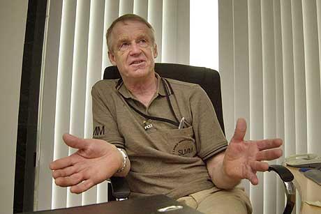 Lederen for de nordiske observatørene på Sri Lanka, Ulf Henricsson. (Foto: AP/Scanpix)