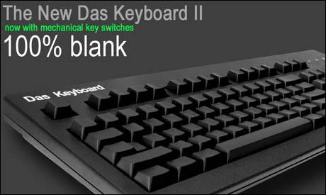 """Tastaturet for ultranerder, etter modell av filmklassikeren """"Das Boot"""": Das Keyboard, for deg som ikke trenger å lese hvilken tast som gjør hva."""