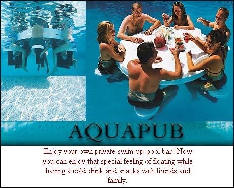 Oppblåsbar pub til å ha i svømmebassenget. Noe å ta med til Frognerbadet?