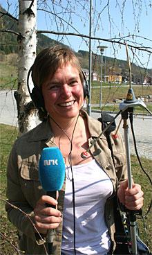 Jorun Vang rapporterer fra Gjøvik. (Foto: NRK)