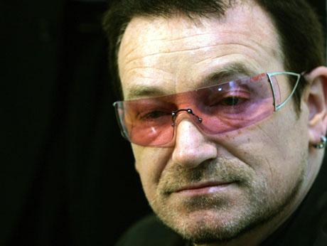 Bono har intervjuet statsminister Tony Blair og finansminister Gordon Brown. Foto: REUTERS/Luke MacGregor