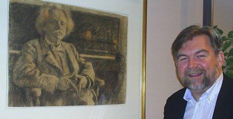 Arild Erikstad søker inspirasjon på Troldhaugen
