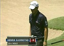 Henrik Bjørnstad fra en tidligere turnering. (Foto: NRK)