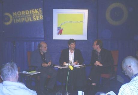 Festspill-dialogene foregår i Logen og blir sendt i P2 i juni-juli. Foto: NRK