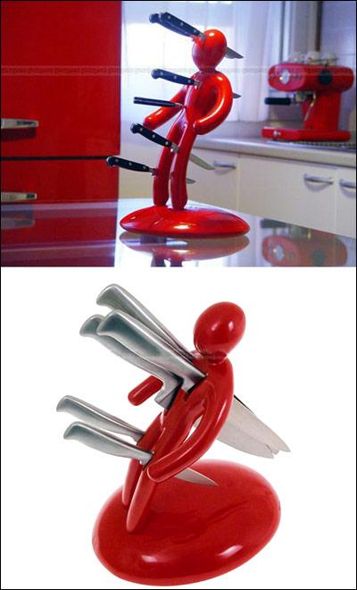 Kokkeutstyr for nærsynte knivkastere og andre som liker å leve farlig. (Kilde: ukjent)