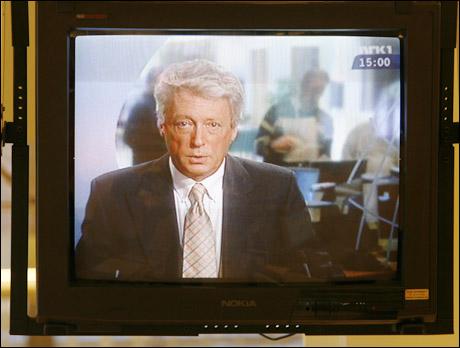 Etter noen dager med streik fant journalistene ut at de heller ville jobbe, da det ikke var noe bra på TV. (Kjell Lindås) Foto: Scanpix