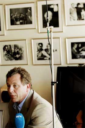 Kringkastingssjef John G. Bernander er ennå ikke enig med nær 1000 NRK-ansatte som er organisert i LO. (Foto: Bjørn Sigurdsøn/Scanpix)