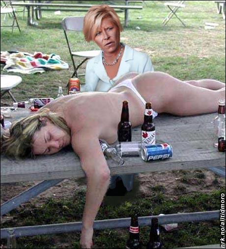 Sent i går kveld: Siv og Erna kommer fram til at folk bør få kjøpe øl hele døgnet. (Alltid Moro)