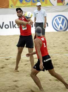 Tarjei Skarlund (t.v.) og Jørre Kjemperud . (Foto: FIVB)