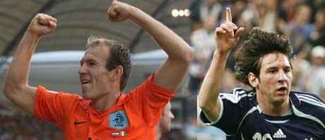 Arjen Robben og Lionel Messi. (Foto: AP / SCANPIX)