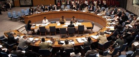 På møtet i Sikkerhetsrådet i går ba palestinerne FN om å kreve stans i offensiven mot Gaza. Men USA satte foten ned. (Foto: D.Karp, AP)