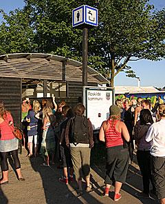 Do-kø på Roskilde Festival. Foto: Arne Kristian Gansmo, NRK.