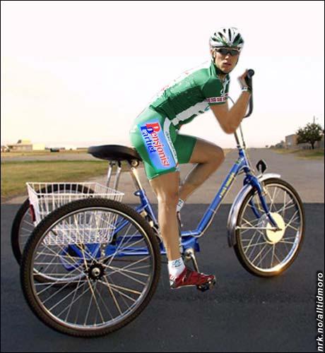 I 2004 syklet Hushovd for Pensjonistpartiet i Tour de France.