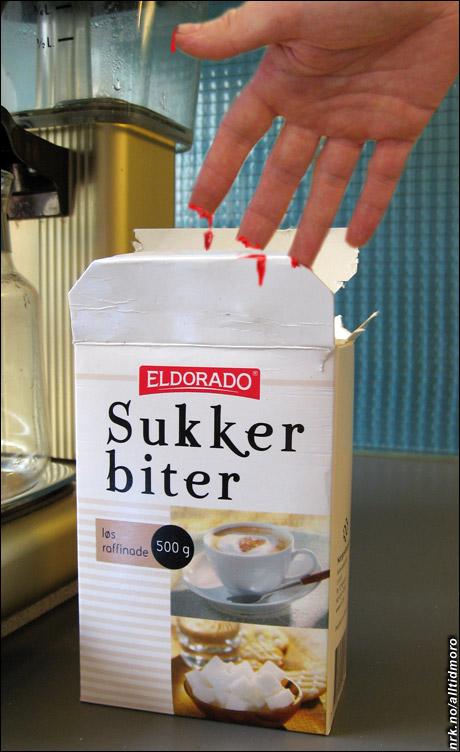 En talsmann for Eldorado sier bedriften er klar over at sukkeret deres er usedvanlig aggressivt, men påpeker at kartongene iallfall er tydelig merket. (Alltid Moro)