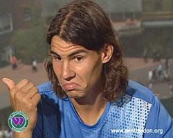 Rafael Nadal. (Foto: NRK/ Wimbledon)