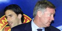 Ruud van Nistelrooy og Sir Alex Ferguson. (Foto: AP/ SCANPIX)