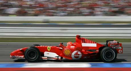 Michael Schumacher på vei til seier på Hockenheim. (Foto: Reuters/Scanpix)