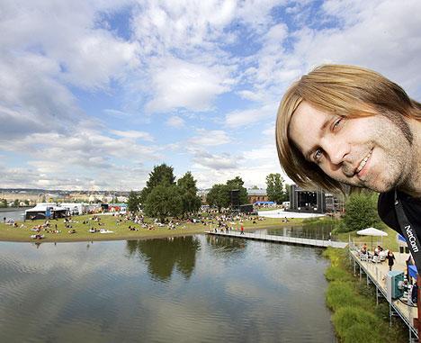 Festivalsjef Jonas Prangerød sier Øyafestivalen skal vurdere å søke om knutepunktstatus. Foto: Lise Åserud, Scanpix.