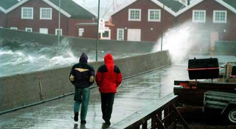 Storm i Bodø. (Foto: SCANPIX)
