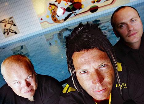Seigmen er tilbake og har gjort seg bemerket med sine comebackkonserter. Nå kommer en dobbel DVD-utgivelse. Fra venstre: Noralf Ronthi (trommer), vokalist Alex Møklebust og gitarist Sverre Økshoff. Foto: Håkon Mosvold Larsen, Scanpix.
