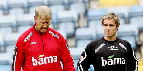 Åge Hareide og Kristofer Hæstad (Foto: Sara Johannessen / SCANPIX)
