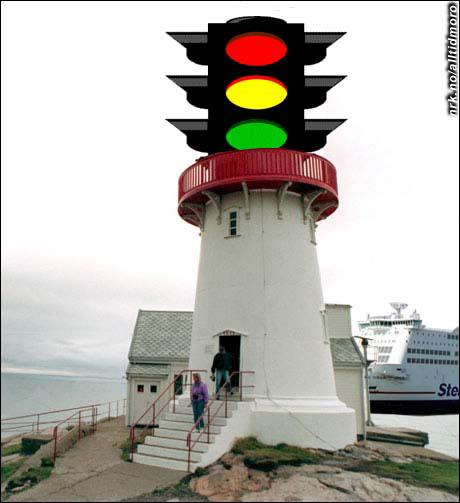 De gamle fyrlyktene er blitt avlegs, og erstattes i økende grad av trafikklys. (Innsendt av Hartvik Line)