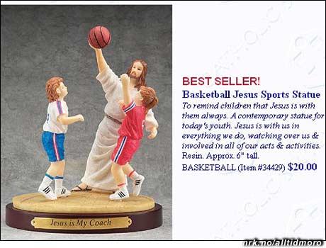 Ved første øyekast kan det se ut som om Jesus ikke vil la de unge få ballen...