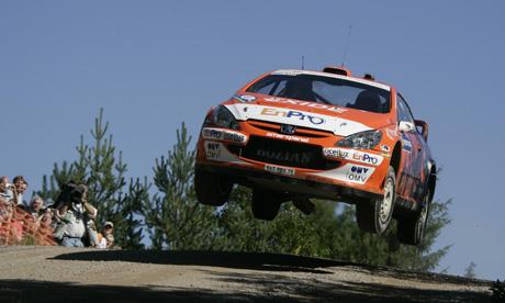 Henning Solberg var høyt oppe både under og etter Rally Finland.