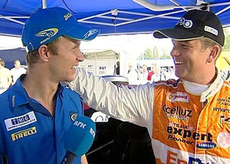 Henning Solberg nærmer seg lillebror Petter i VM-sammendraget etter 4.plassen i Rally Finland (Foto: Jørn Tveter/NRK)