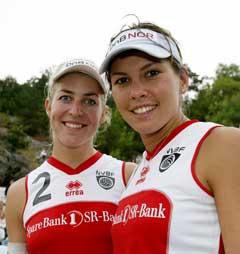 Ingrid Tørlen (t.v.) og Nila Håkedal vant på hjemmebane i Kristiansand. (Foto: Tor Erik Schrøder / SCANPIX)