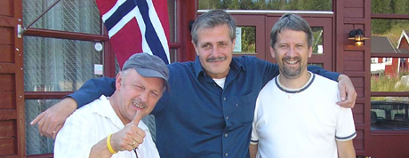 Lars Egil Vågseter, Brian Ervin og Arild Kvenseth