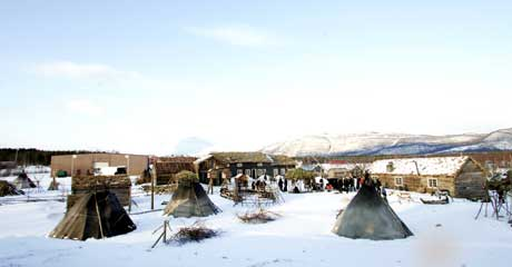 Filmcampen i Tromsø under innspillingen av «Historien om Kautokeino 1852». Foto: Scanpix