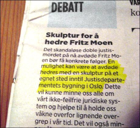 Innlegg på Aftenpostens debattsider 27/8 2006.