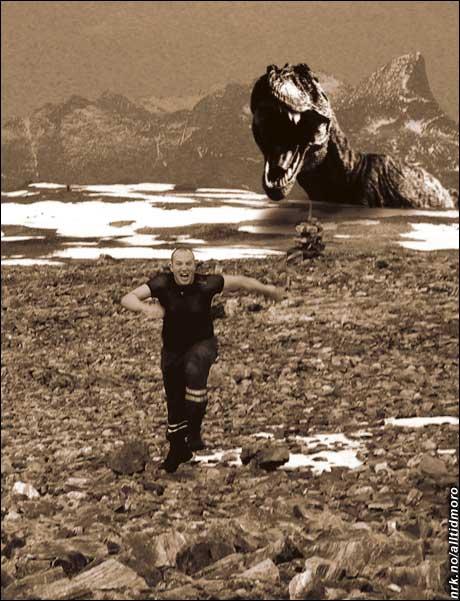 Her hadde jeg et skremmende møte på fjelltur... (Innsendt av Hallgeir Greger)
