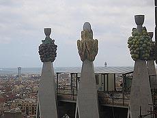 Art noveau hente mange detlajer fra naturen, som her på toppen av noen av de små spirene på La Sagrada Familia. Foto Andeas Toft.