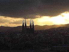La Sagrada Familia, et enda ikke fullført, modernistisk byggeprosjekt. Foto Andreas Toft.