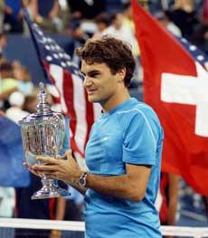 Roger Federer (AP Photo/Osamu Honda)