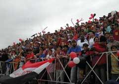 Fansen til Santacruzense (foto: klubbens hjemmeside)