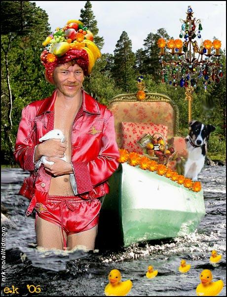 - Når jeg er ute i villmarka kan jeg kle meg akkurat som jeg vil, forteller Lars Monsen. (Innsendt av Elin Kristiansen)