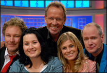 Gustav, Birgitte, Ivar, Pernilla og Robert (Foto: Erik Dyrhaug)