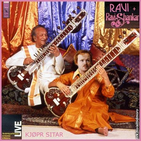 Ravis første plate, sammen med den indiske sitar-virtuosen Ravi Shankar. (Alltid Moro)