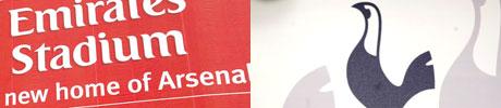 Arsenal og Tottenham. (Foto: SCANPIX)