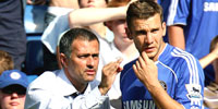 Jose Mourinho og Andrej Sjevtsjenko. (Foto: SCANPIX)