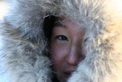 Kine Hee Steen i kaldt vær. Foto: Privat