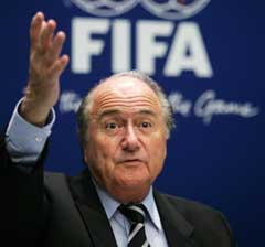 FIFA-president Sepp Blatter. (Foto: Reuters/Scanpix)