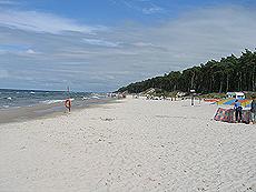 I Polen finner du lange strender med god plass. Foto Øyvind Andrè Haram.
