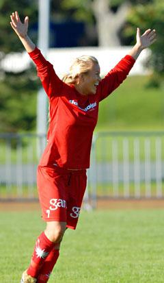 Lene Mykjåland utgjorde forskjellen på de to semifinalistene. (Foto: Geir Otto Johansen / Scanpix)
