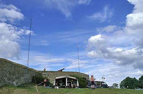 Radioamatører i Trondheim. Foto: Arne K. Grøtnes.