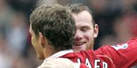 Wayne Rooney og Ole Gunnar Solskjær. (Foto: REUTERS/ SCANPIX)