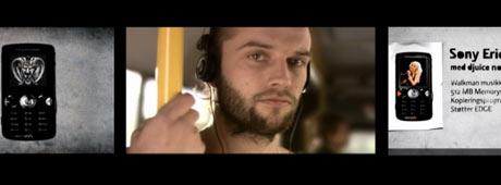 Bilder fra reklamefilmene til Telenor/Sony Ericsson